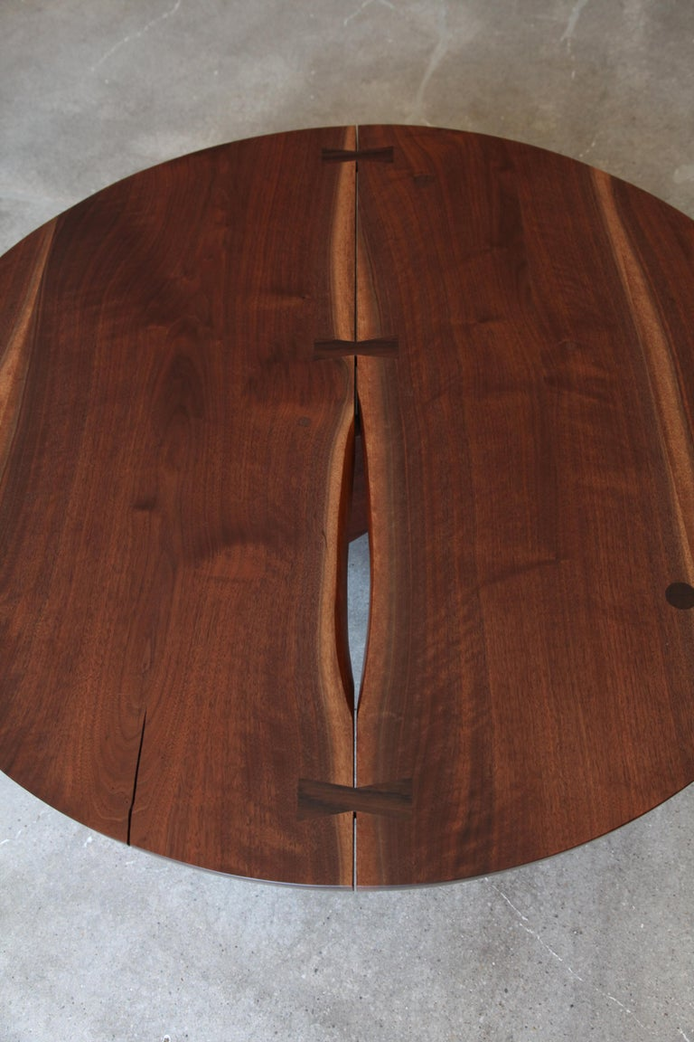 American George Nakashima, Round Coffee Table, circa 1960 For Sale