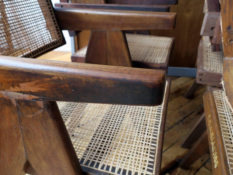 Pierre Jeanneret Grouping of Six Floating Back Armchairs 10