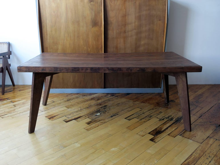 Mid-Century Modern Pierre Jeanneret Dining Table from Chandigarh For Sale