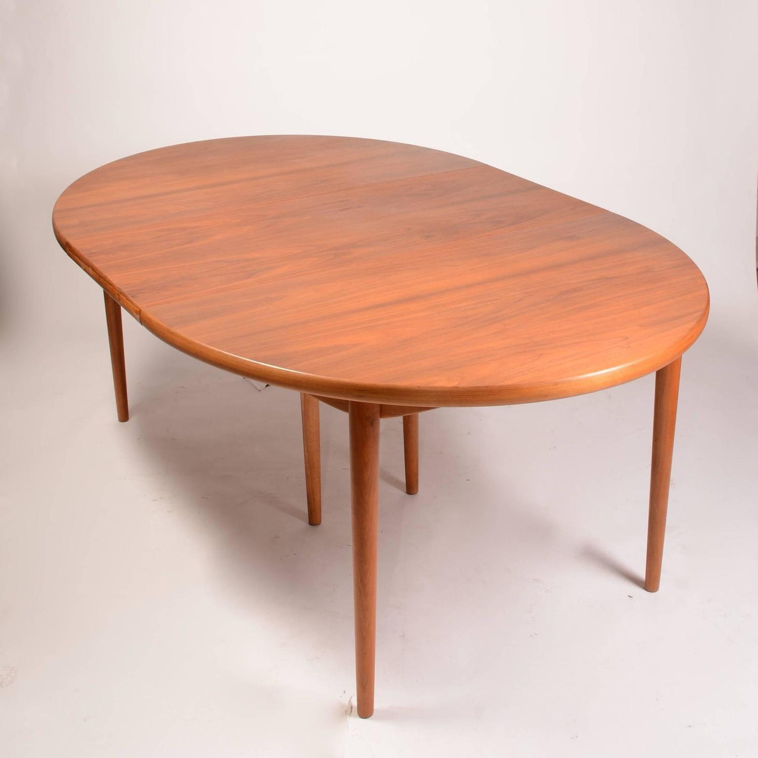Large Early Vintage Scandinavian Modern Dining Table In