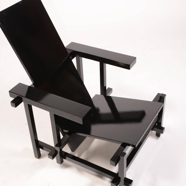 Vintage Gerrit Rietveld in excellent condition. This chair was purchased from an estate of a Los Angeles architect. The origins are unknown.
