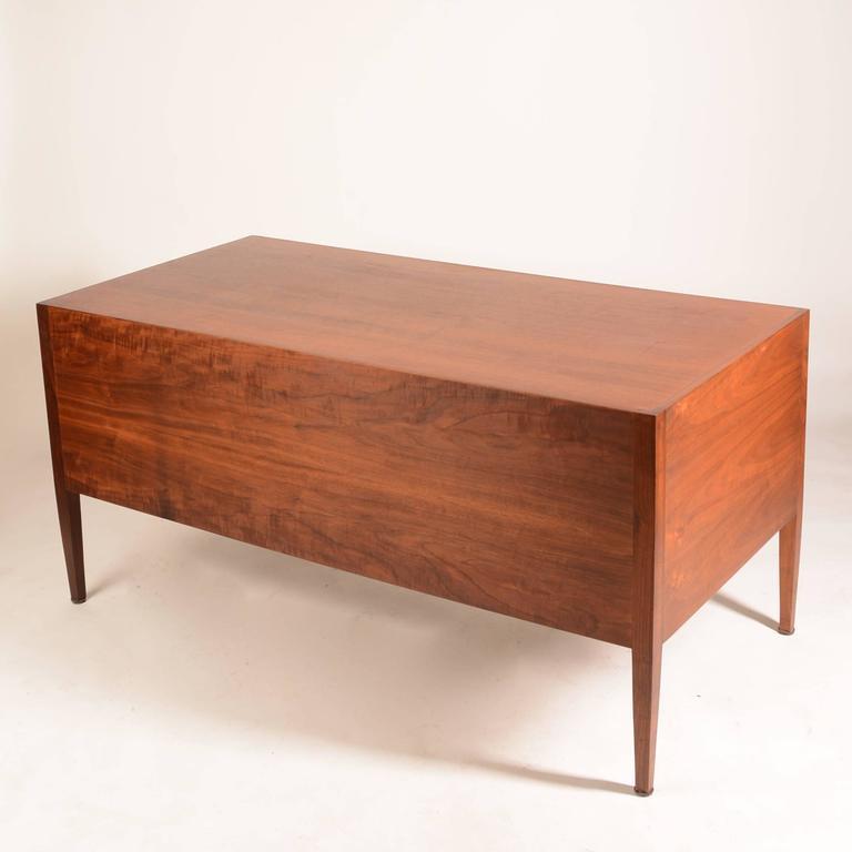 American Modern French Modern Walnut Executive Desk For Sale