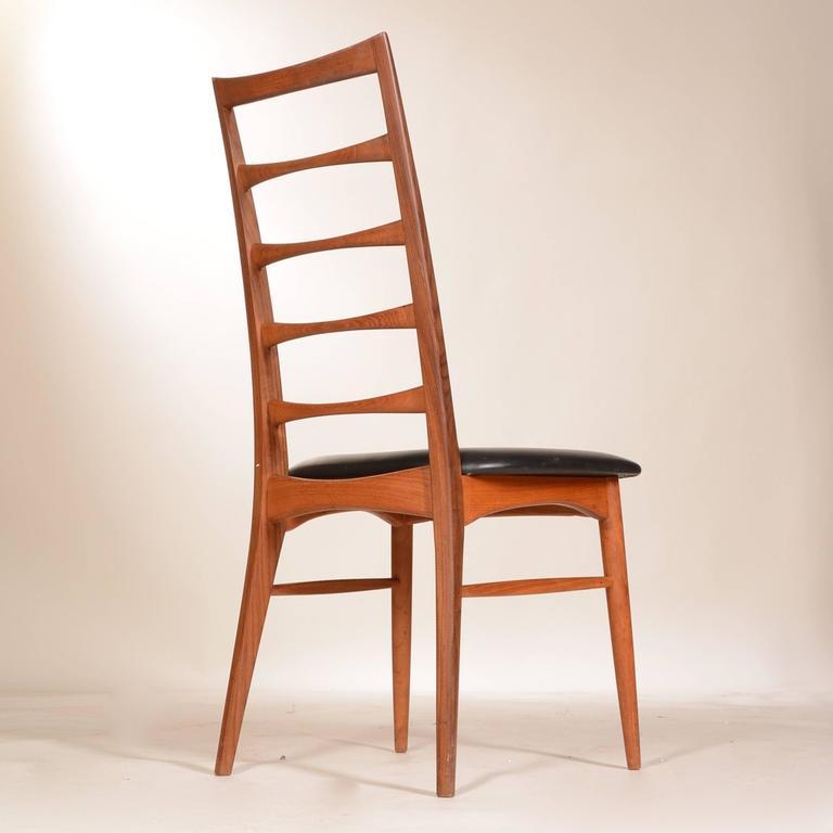 Set Of 6 Teak Niels Koefoed Dining Chairs At 1stdibs