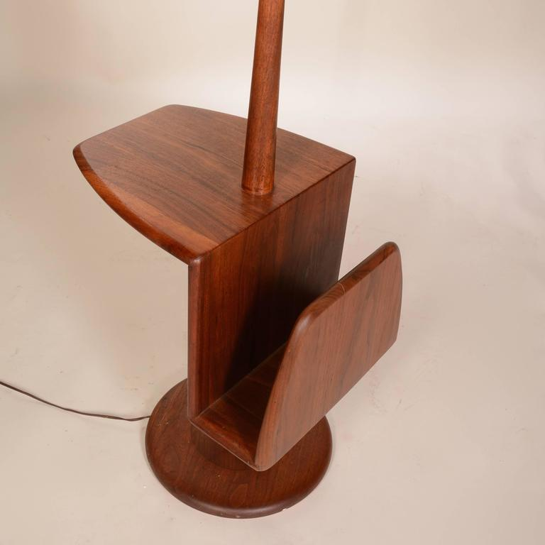 this modern combination floor lamp and magazine stand by laurel is no. Black Bedroom Furniture Sets. Home Design Ideas
