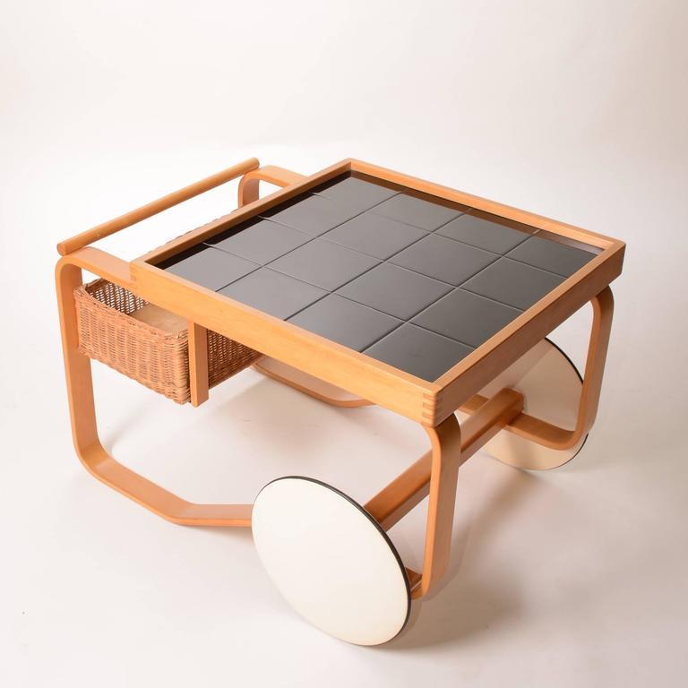 Alvar Aalto For Artek Tea Cart Model 900 At 1stdibs