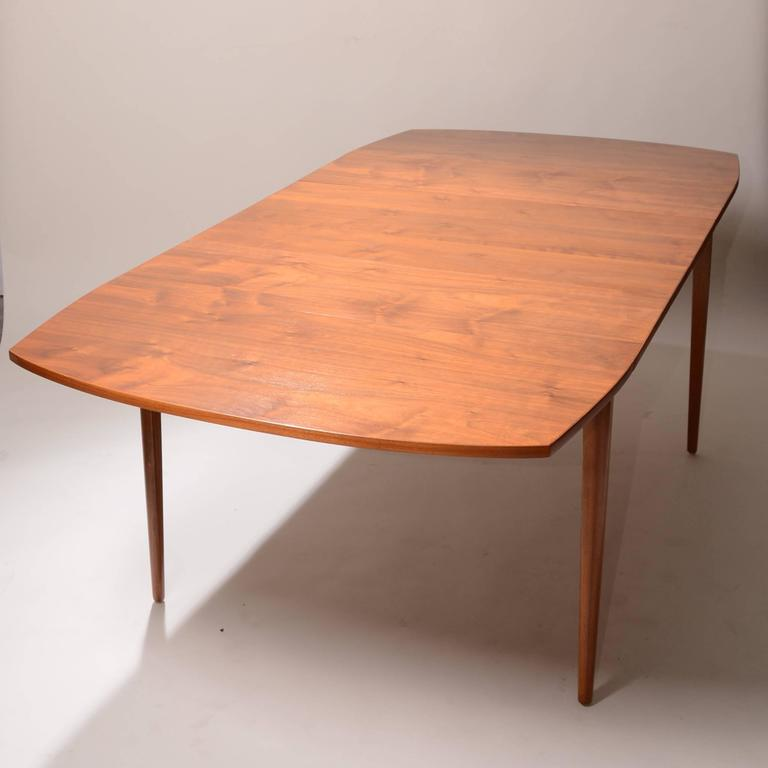 Kipp Stewart For Drexel Walnut Drop Leaf Dining Table For