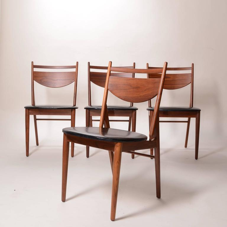 Set of Four Greta Grossman Walnut Dining by Glenn of California 3
