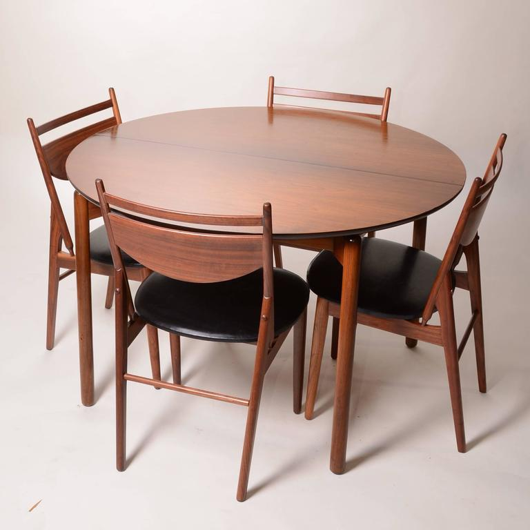 Set of Four Greta Grossman Walnut Dining by Glenn of California 6