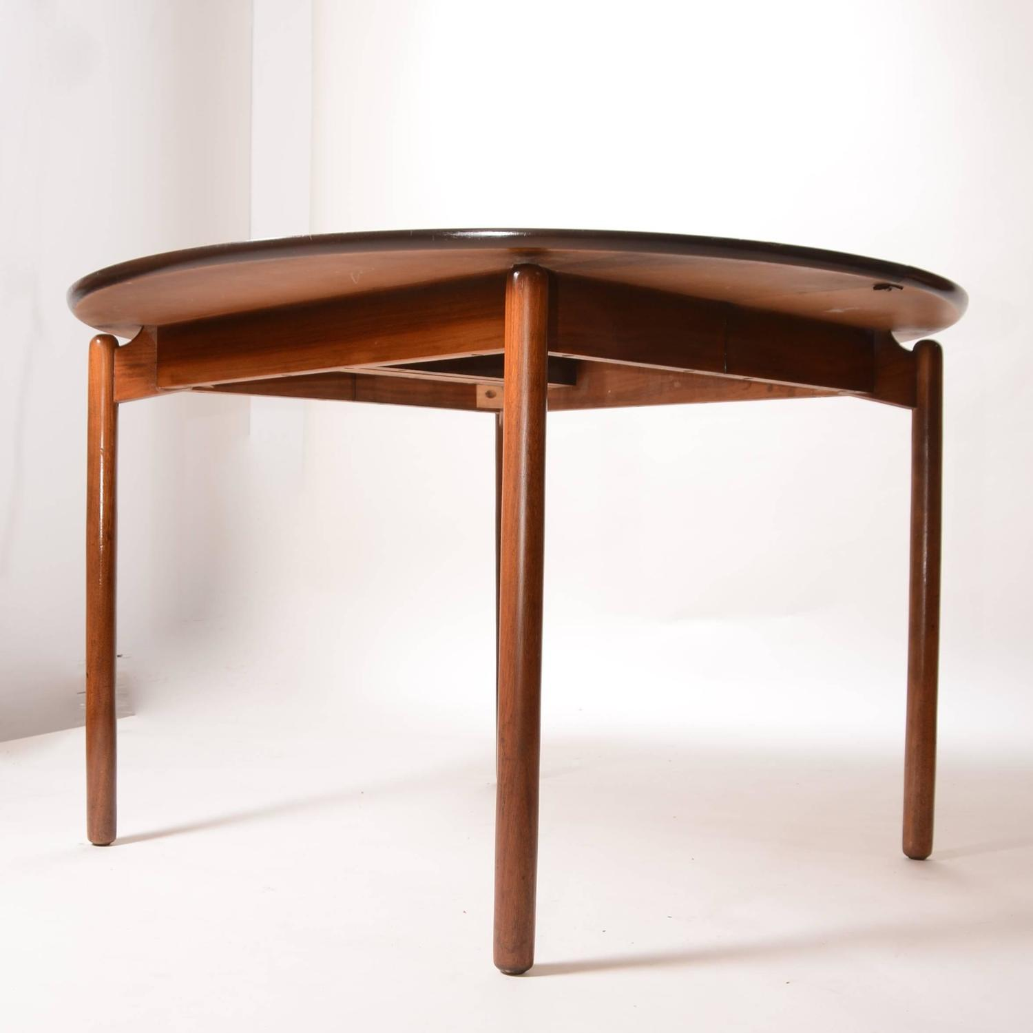 Greta Grossman Round Walnut Dining Table By Glenn Of California At