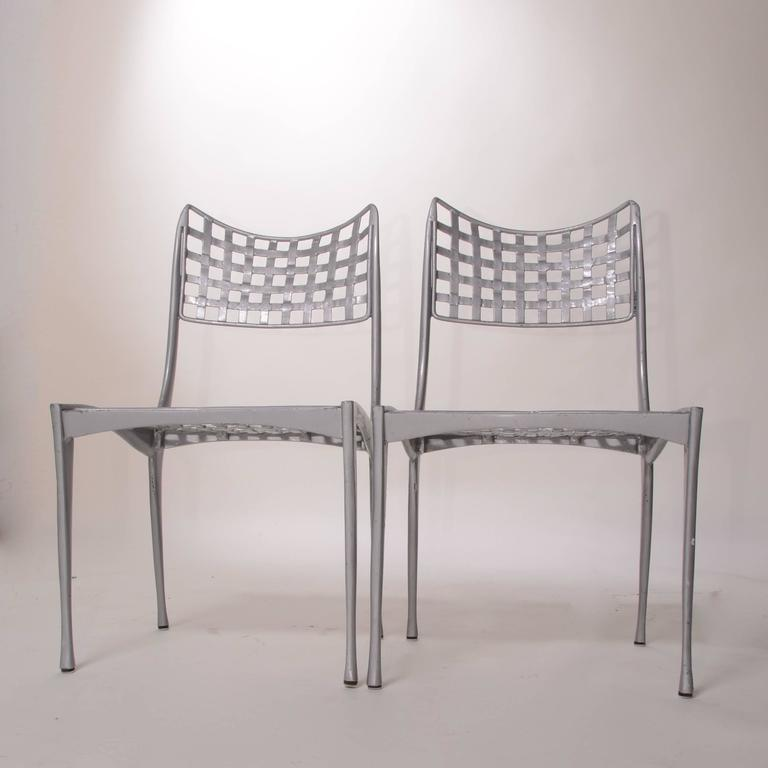 Set Of 4 Sol Y Luna Aluminum Patio Chairs By Brown Jordan The Includes