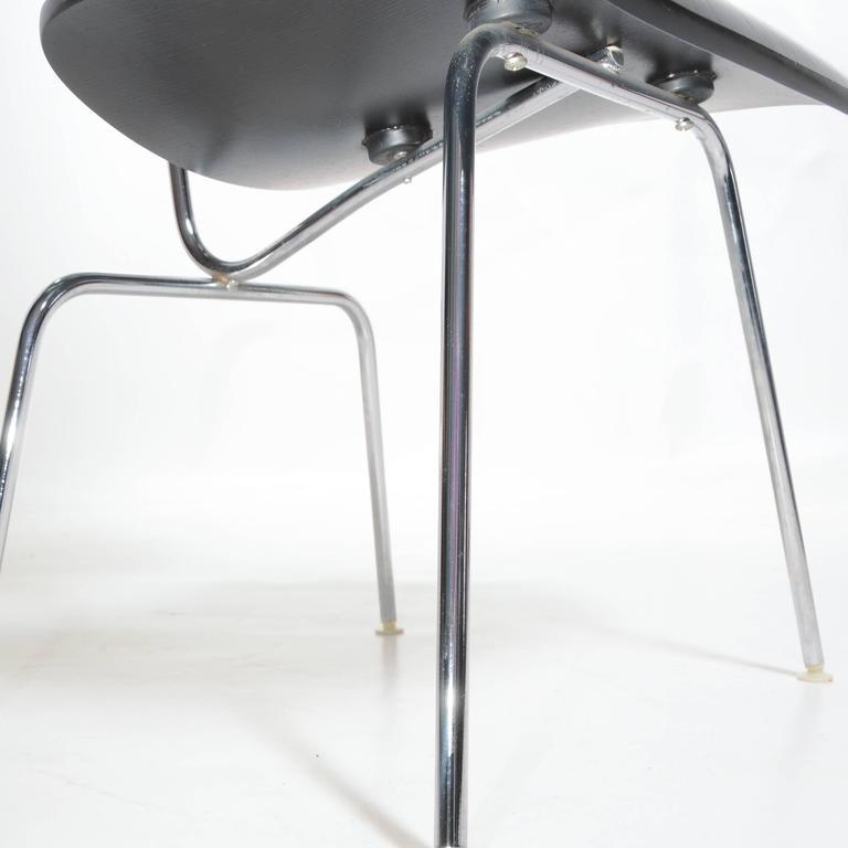 Black Eames DCM Chairs For Sale 3