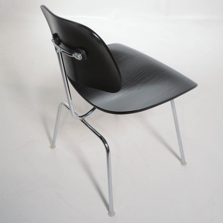 Black Eames DCM Chairs For Sale 1