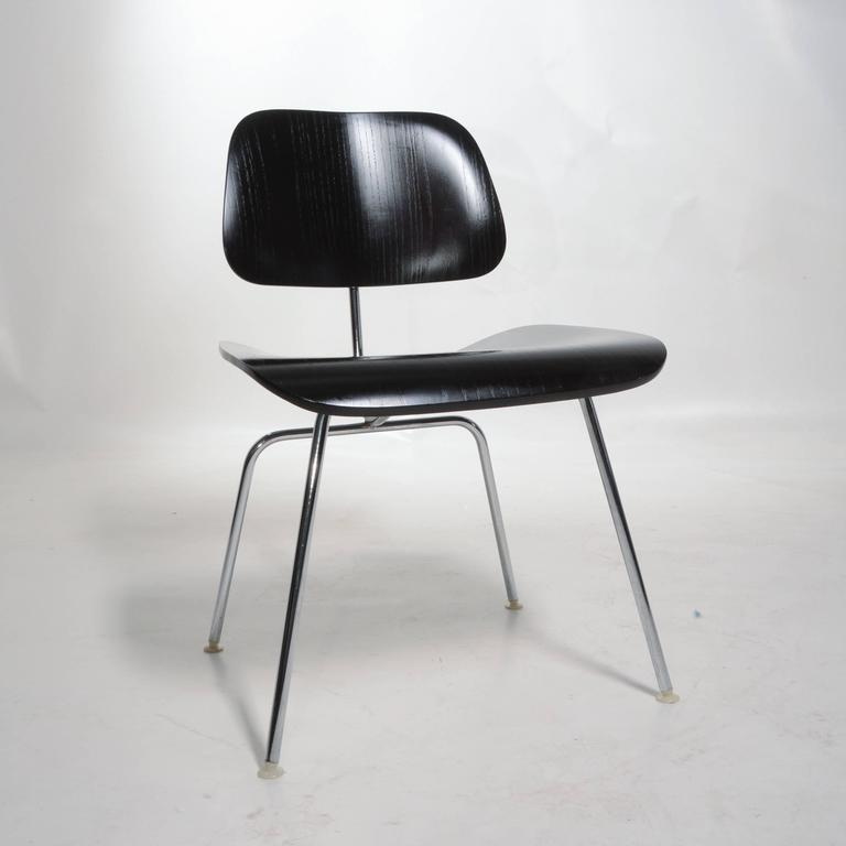 American Black Eames DCM Chairs For Sale