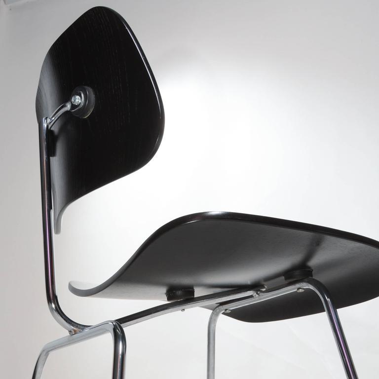 Black Eames DCM Chairs For Sale 2