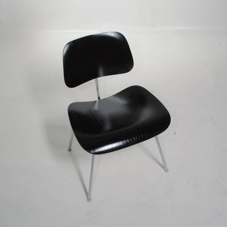 Ash Black Eames DCM Chairs For Sale