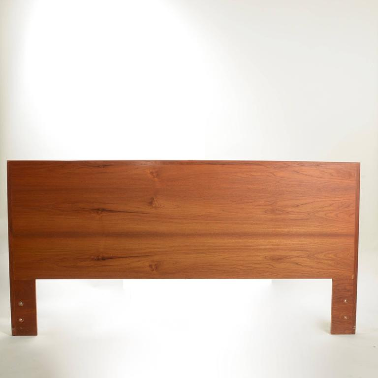This Is A Beautiful Danish Modern Teak Headboard In Cal King Size
