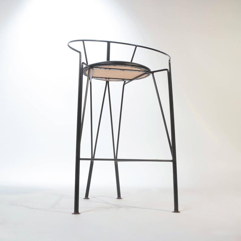 Set Of Three Vintage Italian Bar Stools For Sale At 1stdibs