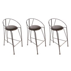 Set of Three Vintage Italian Bar Stools
