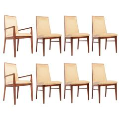 Set of Eight Tomlinson Walnut Chairs