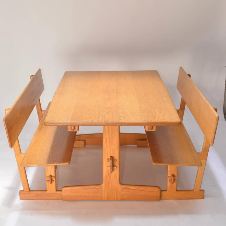 Ordinaire This Is A Beautiful Trestle Dining Table With Matching Benches By Gerald  McCabe For Orange Crate