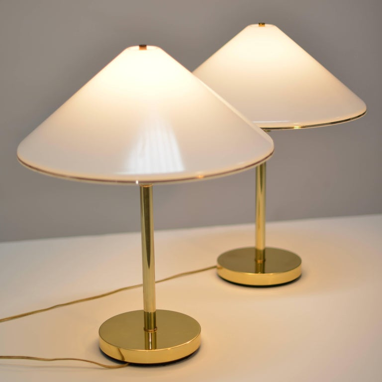 Pair Of Koch And Lowy Brass Desk Or Reading Lamps For Sale
