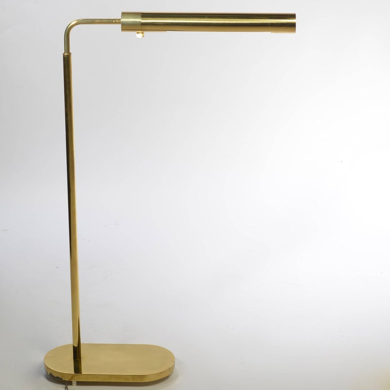Brass swivel floor lamp by casella for sale at 1stdibs for Casella brass floor lamp