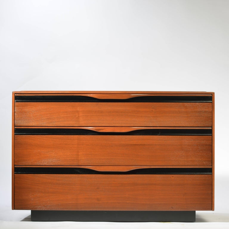 This is a professionally restored 3-drawer cabinet designed by John Kapel for Glenn of California.