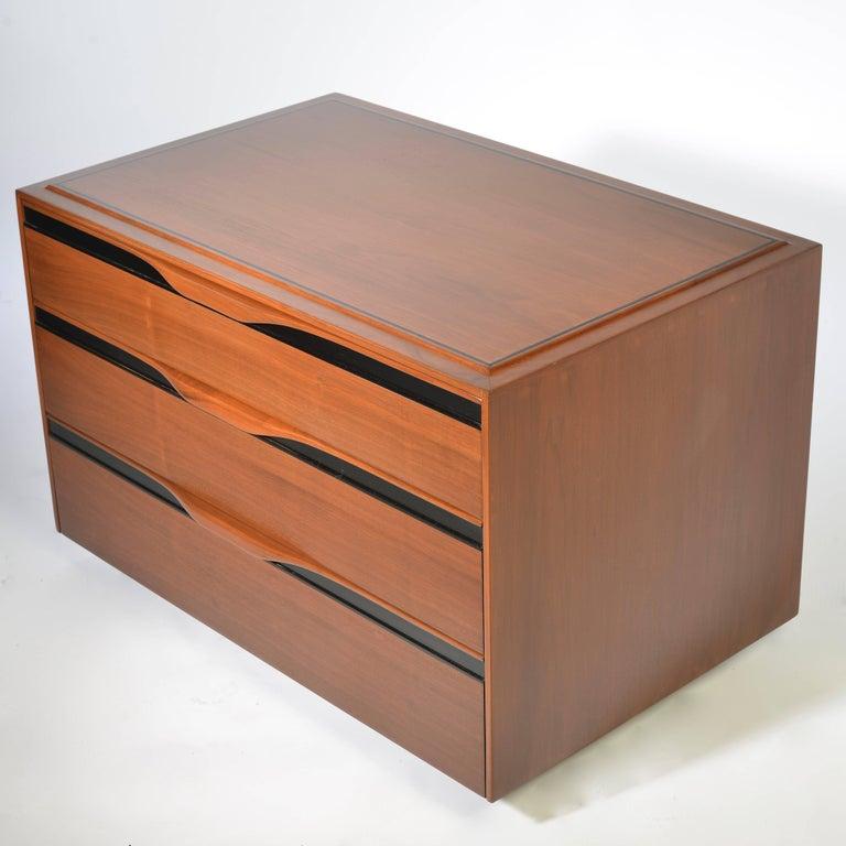 Modern Walnut Three-Drawer Dresser by John Kapel for Glenn of California For Sale
