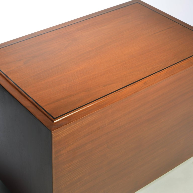 Walnut Three-Drawer Dresser by John Kapel for Glenn of California For Sale 1
