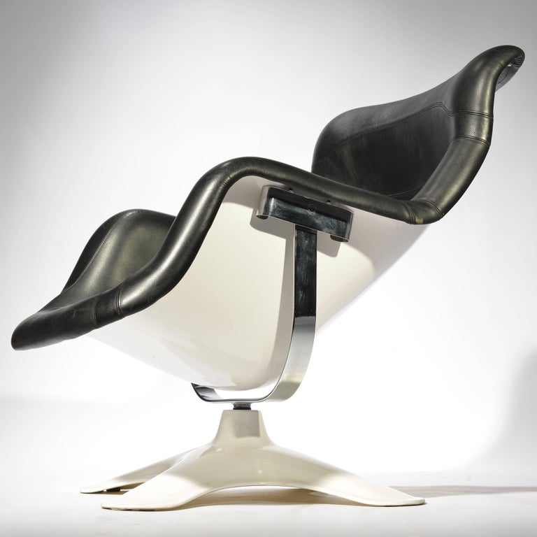Steel Karuselli Lounge Chair by Yrjö Kukkapuro For Sale