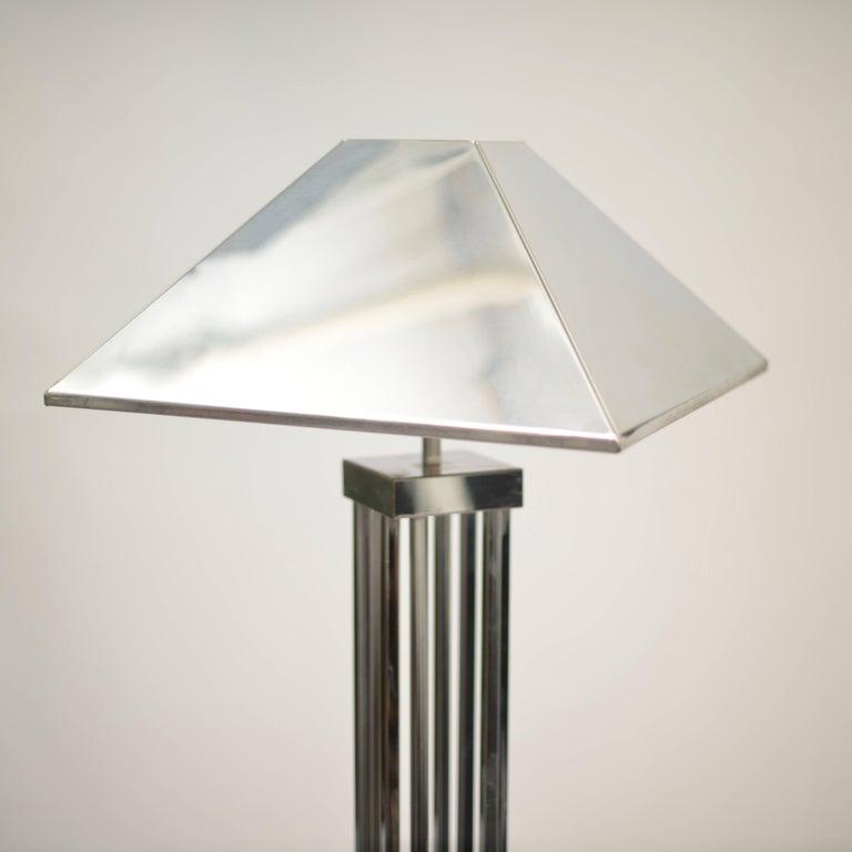Mid-Century Modern C. Jere Chrome Floor Lamp For Sale
