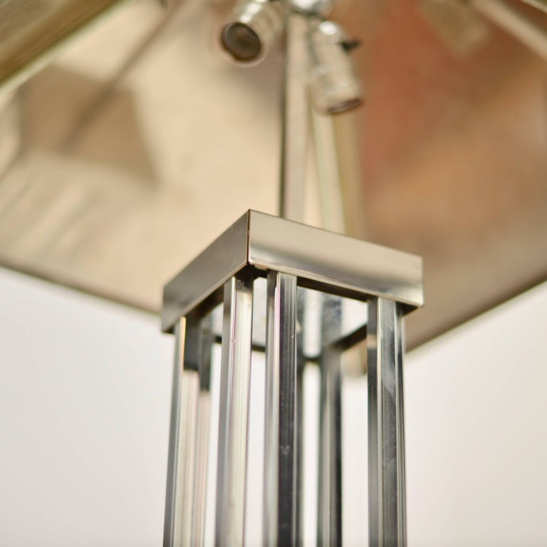 Late 20th Century C. Jere Chrome Floor Lamp For Sale