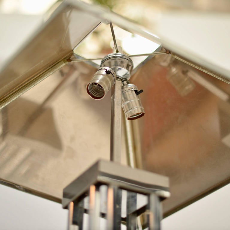 C. Jere Chrome Floor Lamp In Good Condition For Sale In Los Angeles, CA