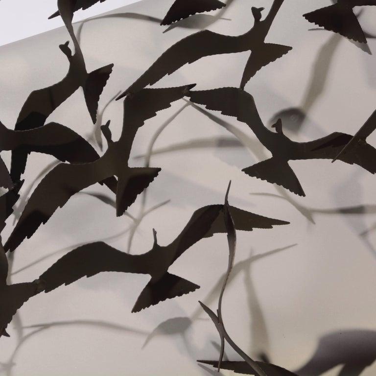 American Flock of Seagulls Black Brass Sculpture by Bijan