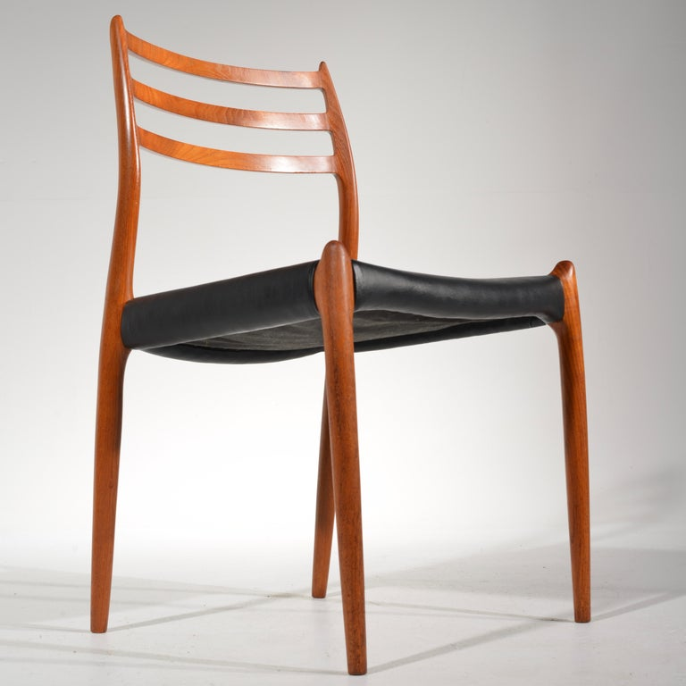 Danish Niels O. Møller Dining Chairs Model 78 by J.L Møllers Møbelfabrik in Denmark For Sale