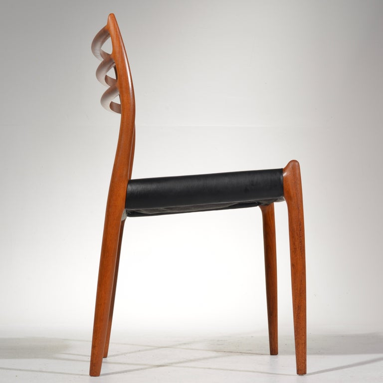 Mid-20th Century Niels O. Møller Dining Chairs Model 78 by J.L Møllers Møbelfabrik in Denmark For Sale