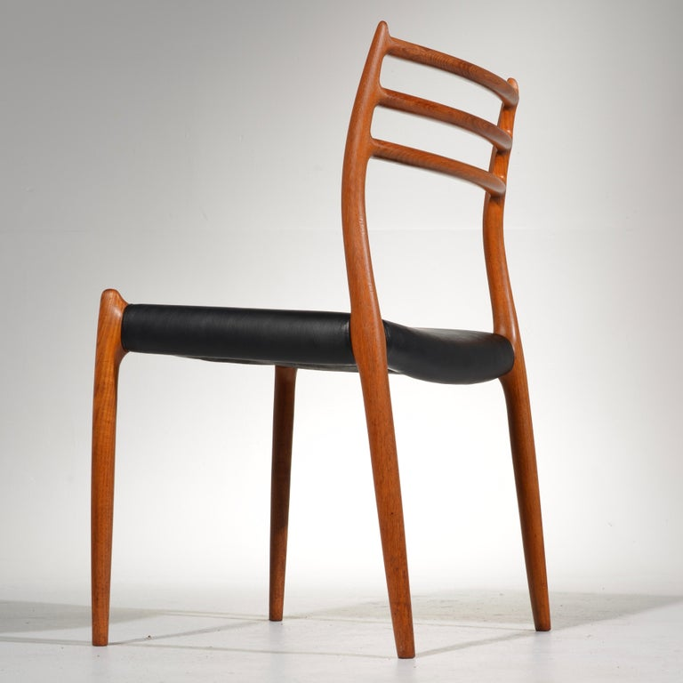 Niels O. Møller Dining Chairs Model 78 by J.L Møllers Møbelfabrik in Denmark For Sale 1