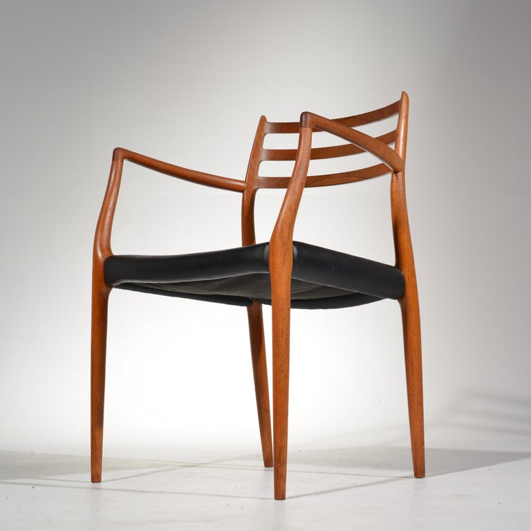 Niels O. Møller Dining Chairs Model 78 by J.L Møllers Møbelfabrik in Denmark For Sale 4