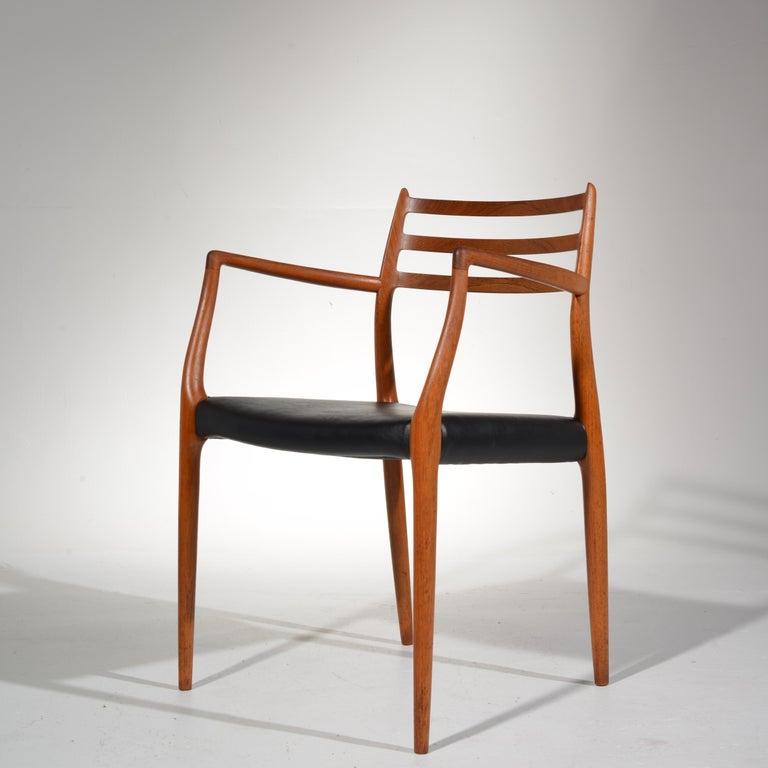 Niels O. Møller Dining Chairs Model 78 by J.L Møllers Møbelfabrik in Denmark For Sale 5