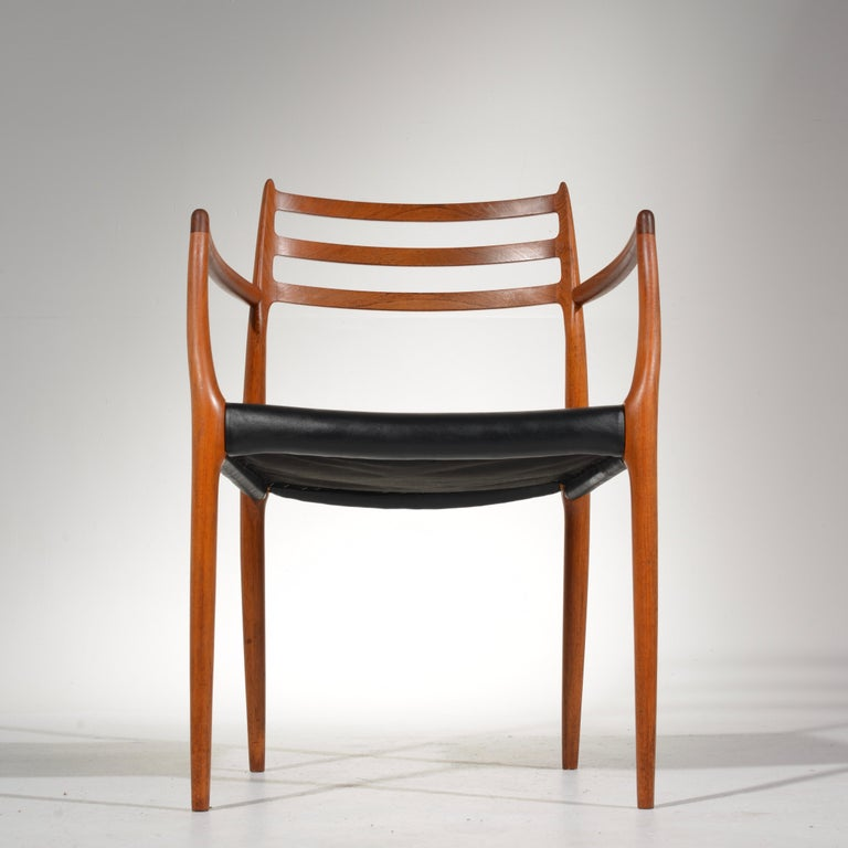 Niels O. Møller Dining Chairs Model 78 by J.L Møllers Møbelfabrik in Denmark For Sale 6