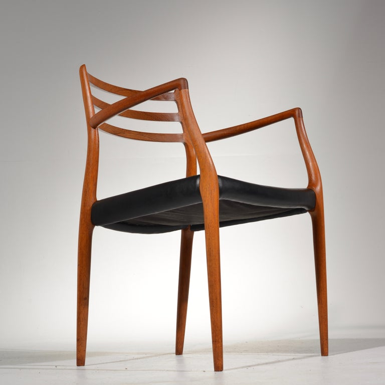 Niels O. Møller Dining Chairs Model 78 by J.L Møllers Møbelfabrik in Denmark For Sale 7