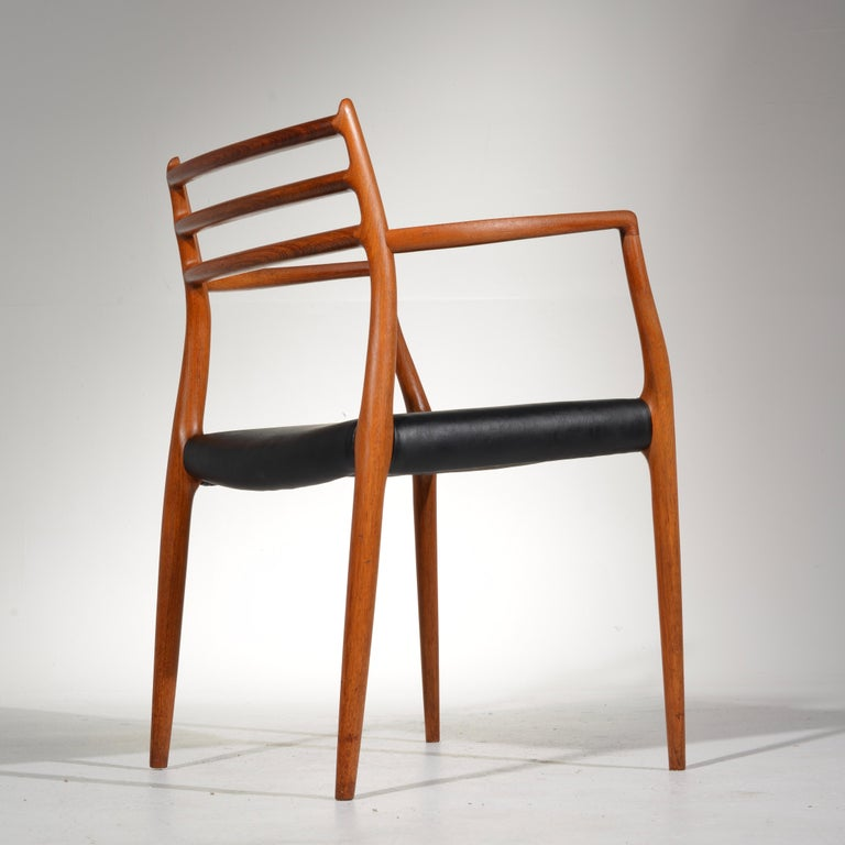 Niels O. Møller Dining Chairs Model 78 by J.L Møllers Møbelfabrik in Denmark For Sale 9