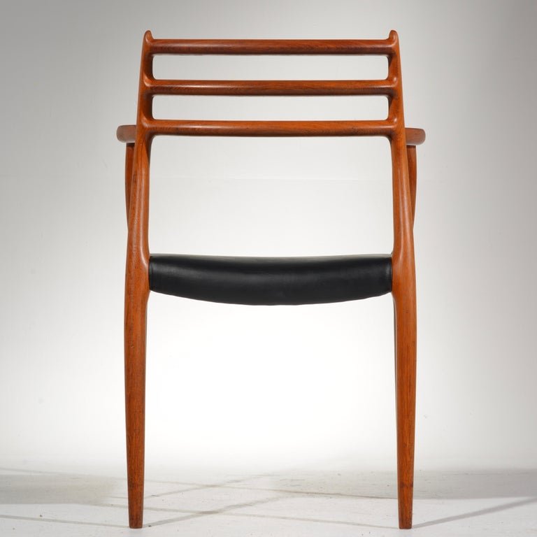 Niels O. Møller Dining Chairs Model 78 by J.L Møllers Møbelfabrik in Denmark For Sale 12