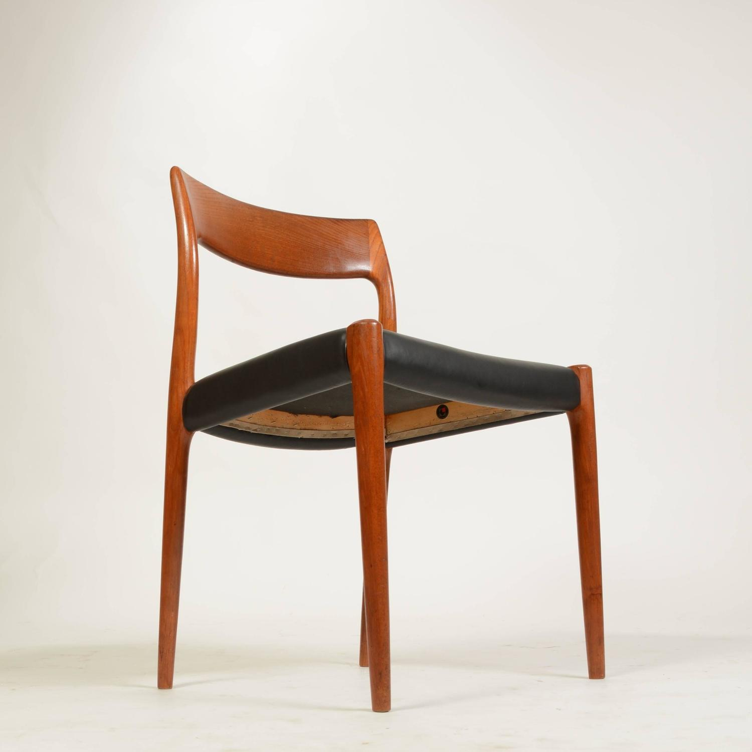 Set Of Six No 77 Teak Dining Chairs By Niels Moller For J L M Ller Mobelfab
