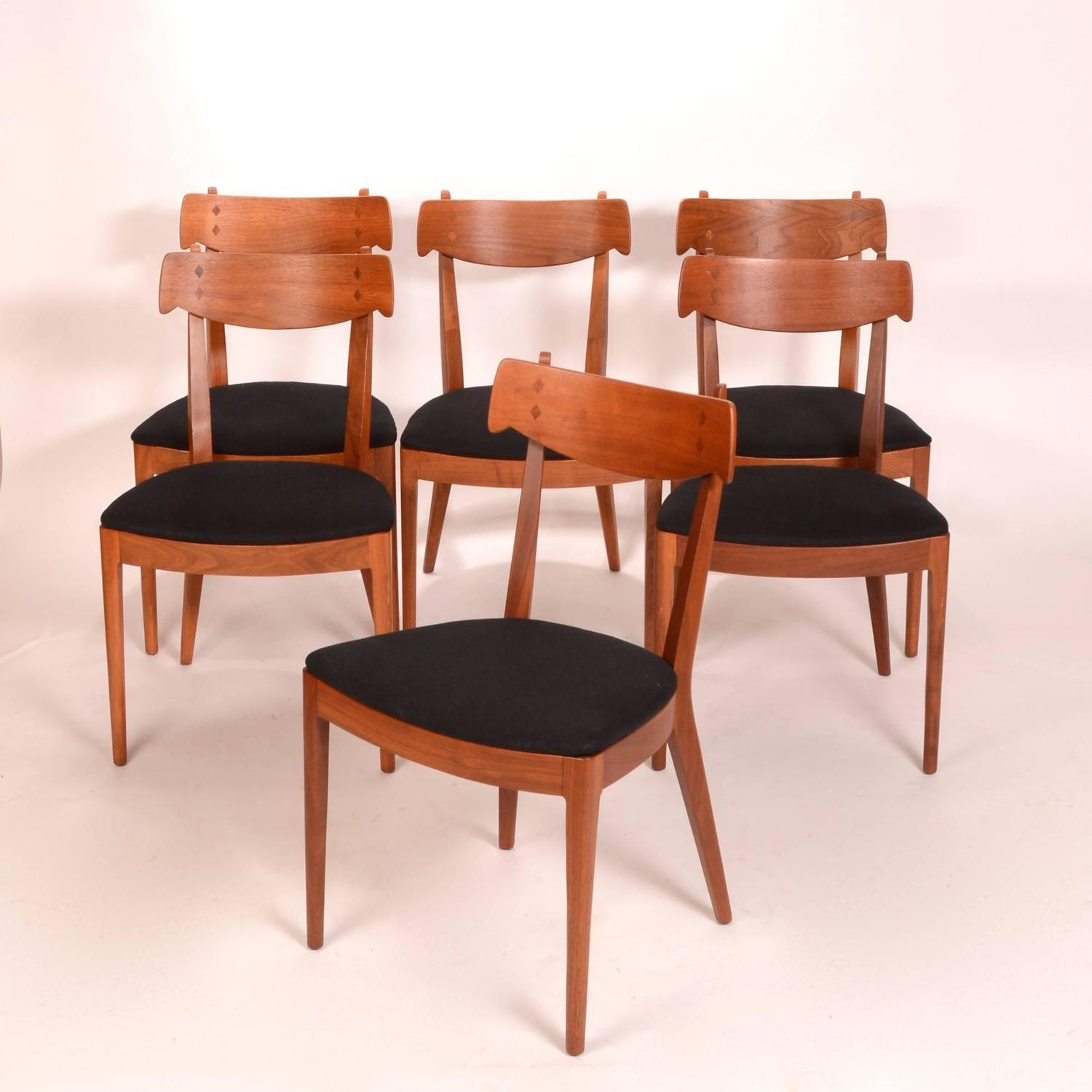 for drexel walnut 39 declaration 39 dining chairs for sale at 1stdibs