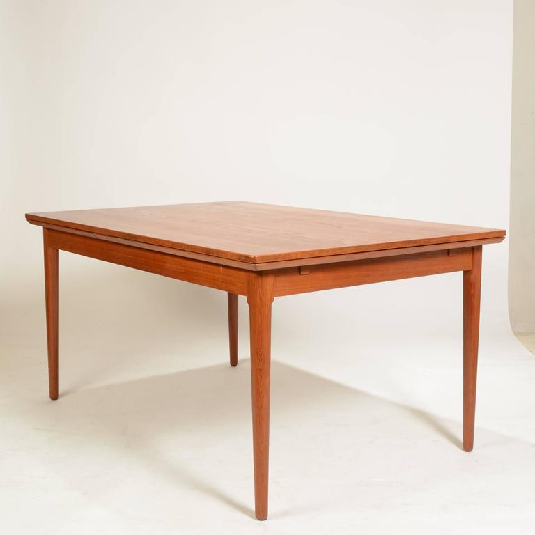 Large danish modern teak dining table by l f mobler for for Modern large dining table