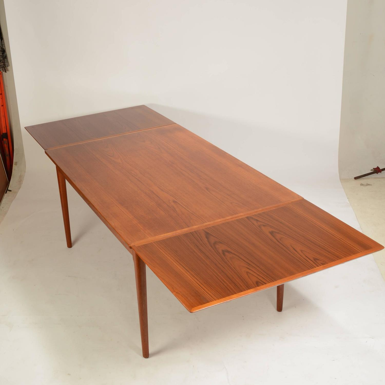 Large Danish Modern Teak Dining Table by L&F Mobler For ...
