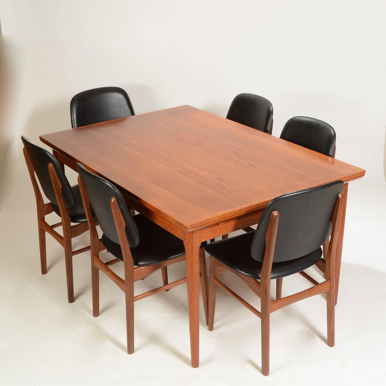 Large Danish Modern Teak Dining Table By L F Mobler For