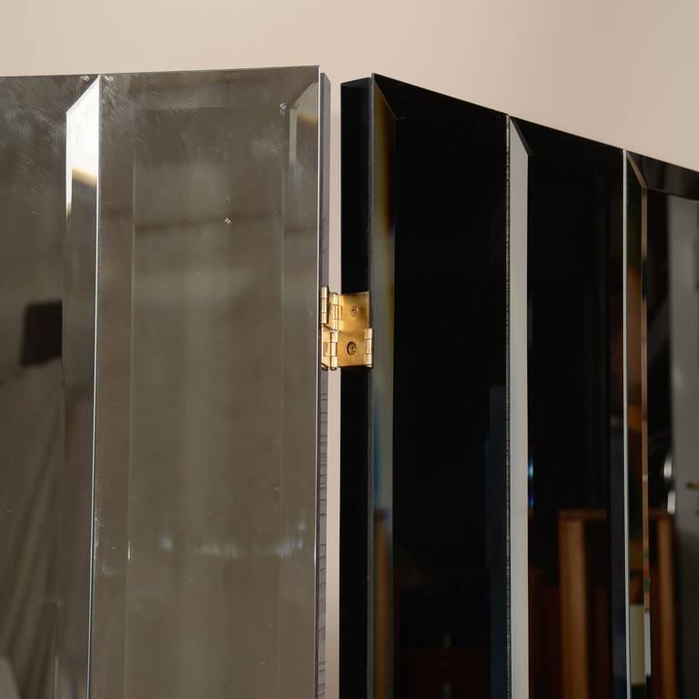 Henredon Beveled Mirror Room Divider For Sale 2