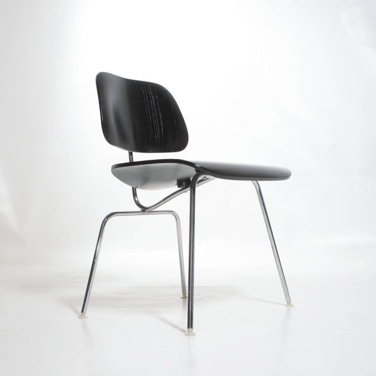 Late 20th Century Black Eames DCM Chairs For Sale